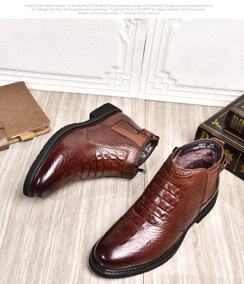 botas de couro de vaca genuína alta