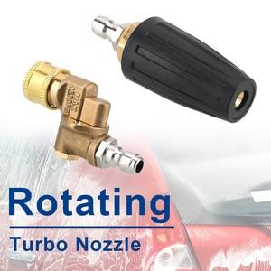 Image 3 - Limpeza do carro turbo bocais pulverizador para conector rápido lavadora de pressão do carro acessório rotativo pivotante acoplador jet pulverizador