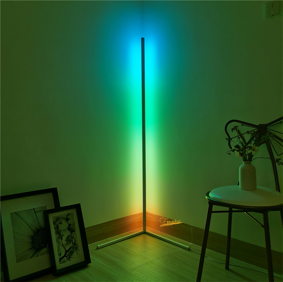 Modern LED Floor Lamp RGB Floor Light Colorful Bedroom Dining Room Atmosphere Lighting Club Home Indoor Decor Standing Lamp