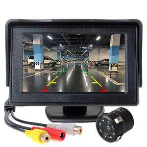 Image 2 - Ziqiao 4.3 Inch Tft Lcd Parking Monitor Met Hd Omkeren Achteruitrijcamera Optioneel P01