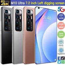 Mi 10 Ultra Smartphone mi 10 globalna wersja 4GB 64GB telefon komórkowy 7.2 calowy ekran 6000mAh 5G LTE sieć telefon komórkowy tellphone