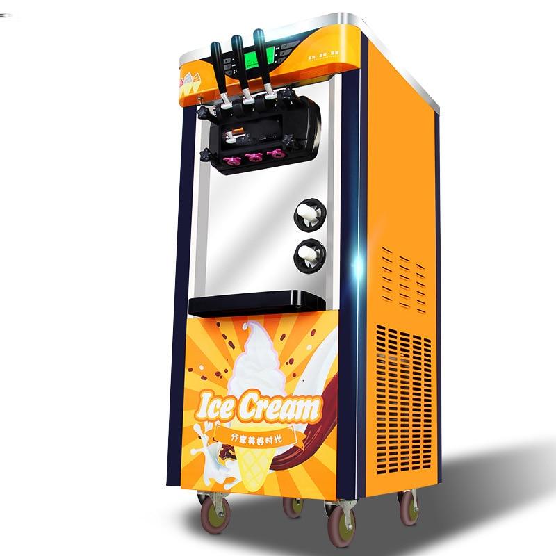 Commercial Vertical Ice Cream Machine Frozen Drink Machine Ice Cream Freezers