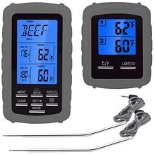 Дистанционный цифровой барбекю беспроводной термометр для мяса, Кухонный Термометр для приготовления пищи с двойным зондом для духовки, кухни, мгновенный R