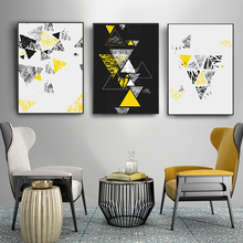 Abstract Geometry Shapes Wall Art Canvas Painting Nordic Posters And Prints Pictures Home Decor Modern