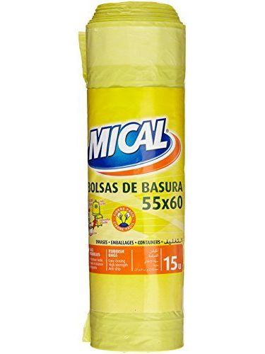 MICAL – Garbage Bags – 55 x 60, Yellow – Pack Of 15