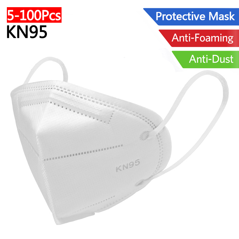 KN95 Protective Mask Nonwoven Folding Anti Dust Particles Proof Face Mask Mouth Nose Cover Protection Against Droplet Respirator