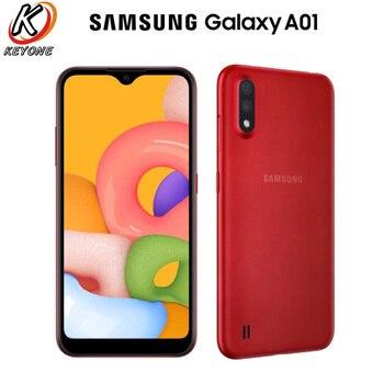 Перейти на Алиэкспресс и купить Глобальная версия Samsung Galaxy A01 A015F-DS 4G мобильный телефон 5,7 дюйма 2 Гб ОЗУ 16 Гб ПЗУ Восьмиядерный Android 10 Dual SIM 3000 мАч смартфон