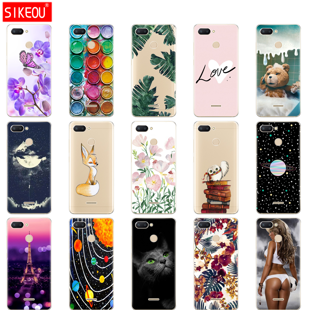 Silicone Case For Xiaomi Redmi 6 Case Full Protection Soft Tpu Back Cover Phone Case For Xiaomi Redmi6 Bumper Hongmi 6 Coque Fox