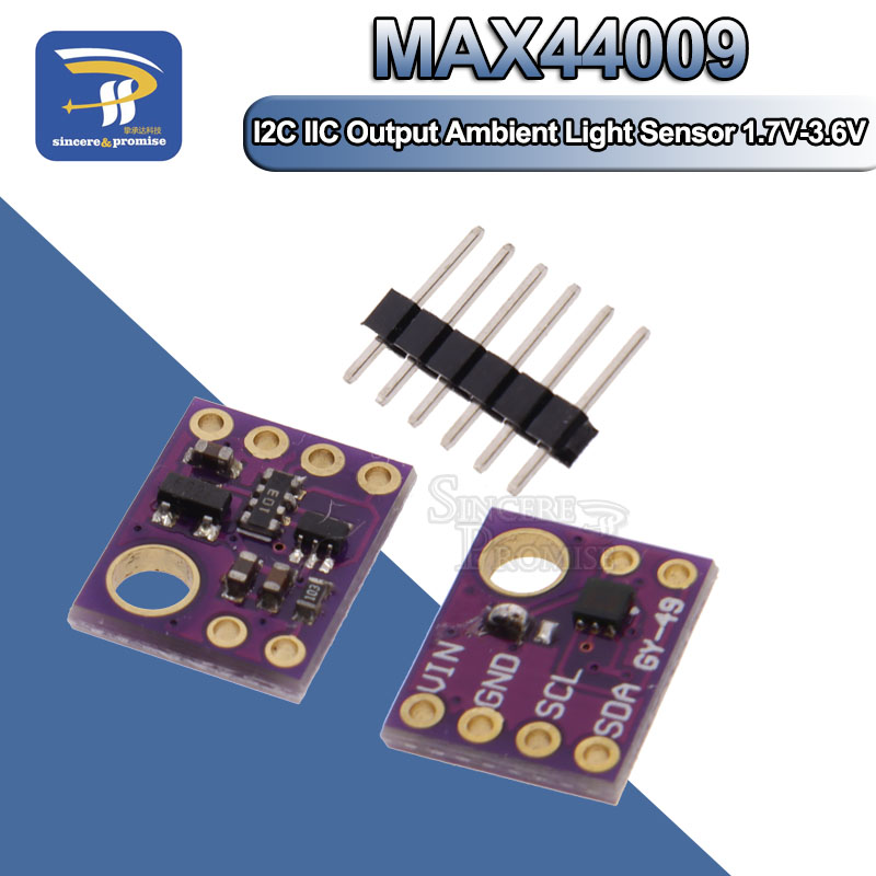Veml 6075 uva I2C mikrobus Junta Módulo Sensor de intensidad de luz ultravioleta UVB