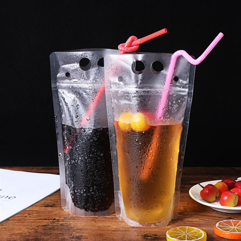 100 Striped Straight Straws 21cm Small Straw Cocktail Plastic Drinking Straws