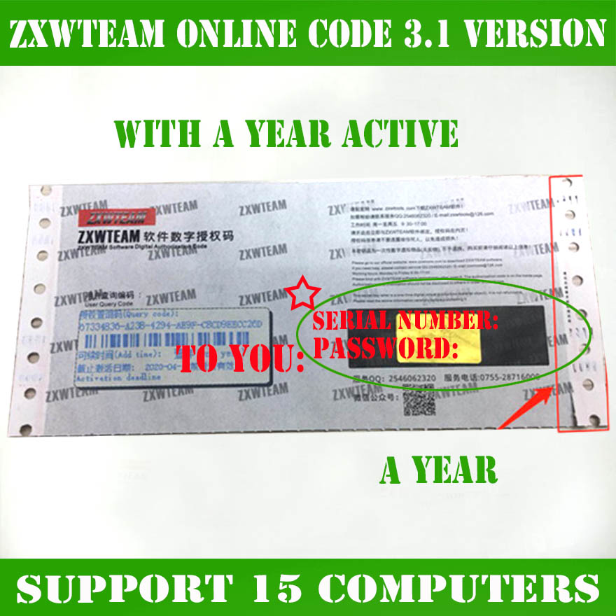 Original ZXWTEAM ZXWSOFT Zxw Tool 3.1 Software Mobile Phone Repair Drawing 1 Year (No Shipping, Time Waiting, Online Delivery)