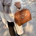 Сумочки Kelly, новая модная сумка большой вместимости, текстурная платиновая сумка с узором Личи