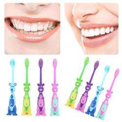 Kids Cartoon Toothbrush Soft Bristles And Anti Slide Handle Stand-up Bottom Safe And Fun Teeth Cleaning Oral Care