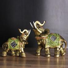 Elephant Figurine Ornament Craft-Decor Miniature Fortion Gift Resin Garden Home Office