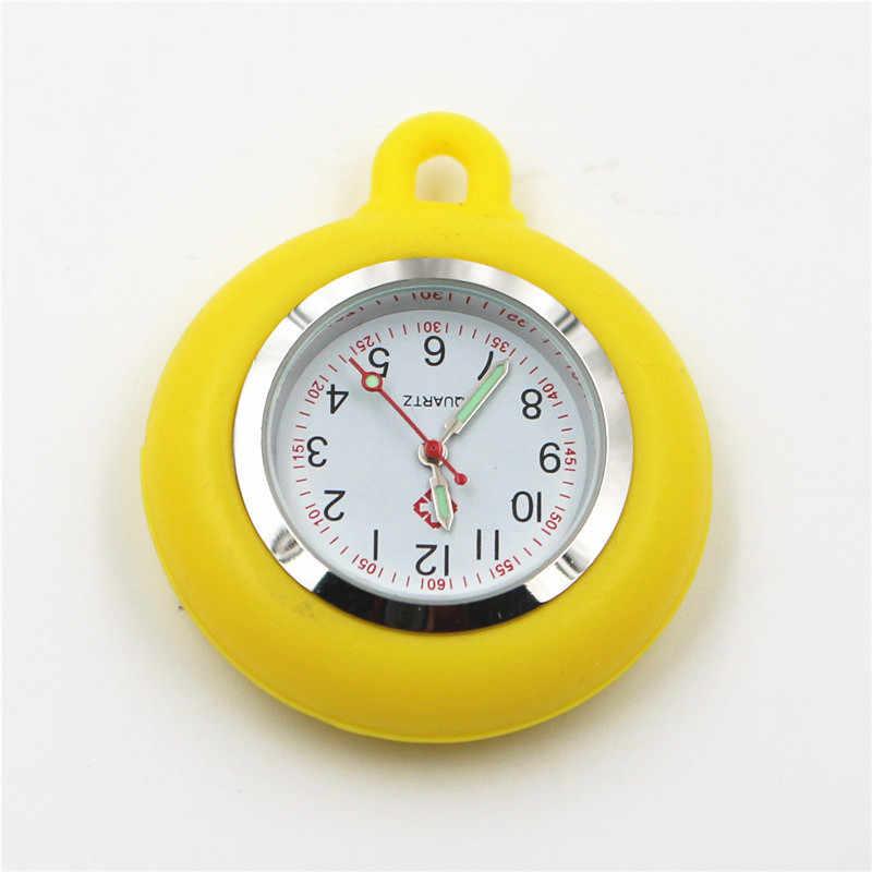 La tête de montre en caoutchouc pour infirmière montre dames hommes femmes extensible Retractabl facile à tirer boucle docteur poche montres à quartz