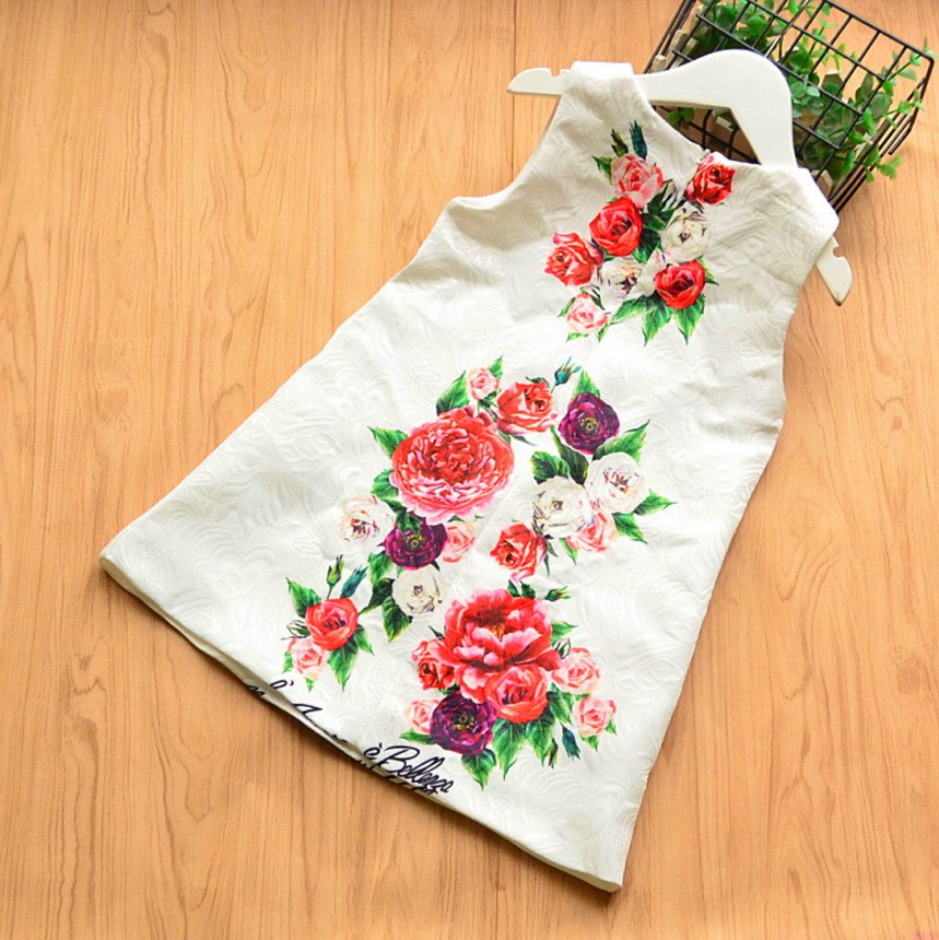 143-23-Girls Flower Princess Sundress