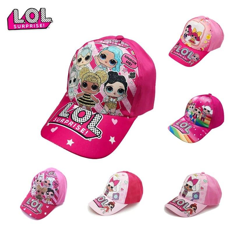 LOL Baseball Surprise Girls Cap Summer Hat Pink Sun