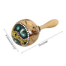 Coconut Shell Sand Hammer Shaker Gourd Kashaka Indonesia Shaker Rattle Percussio