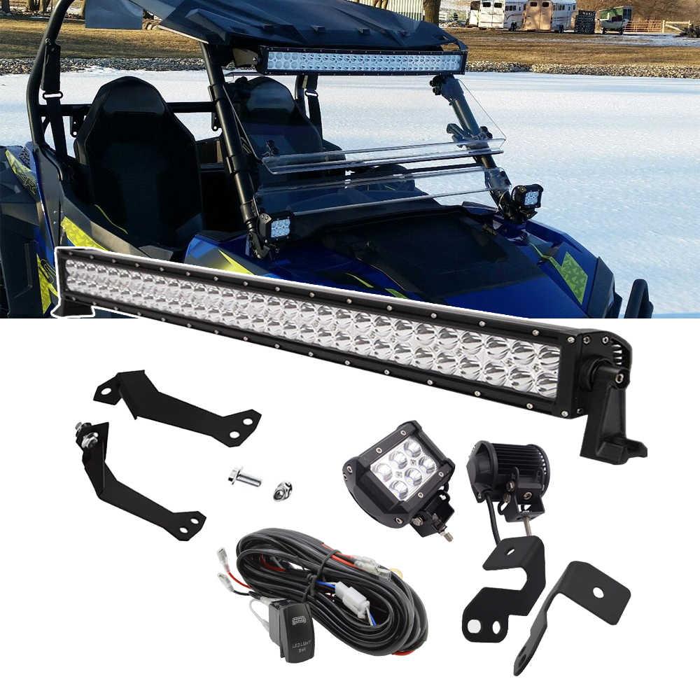 Front Roof LED Light Bar Mount Brackets For Polaris RZR XP 4 1000 RZR 900 S 1000