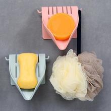 Самоклеящийся держатель для мыла ABS практичный гигиенический для хранения быстрый слив ванная комната настенное крепление стабильный без бурения Экономия пространства