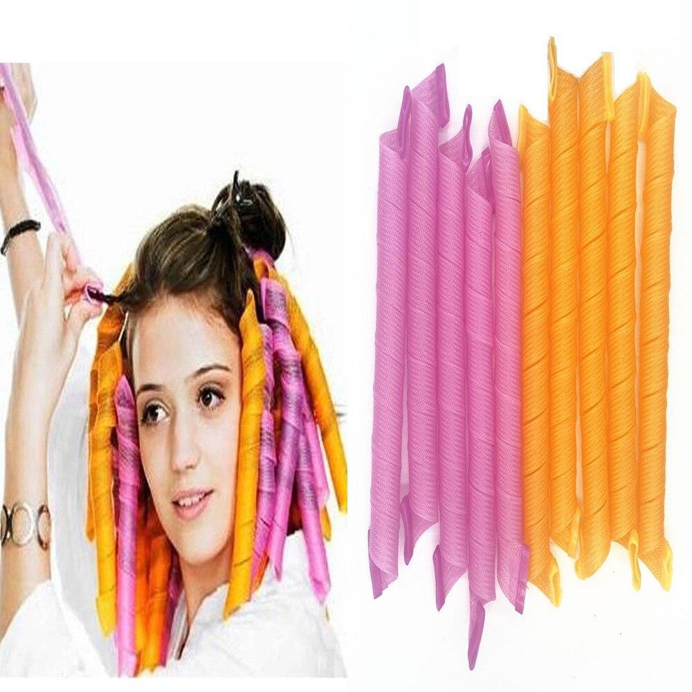 Волшебная Плойка для завивки волос «сделай сам», спиральные круглые бигуди в форме улитки, не волнистые, (20/30/50/65/75 см)