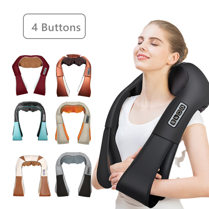 U Form Elektrische Massage Auto/Home Vibromassage Massager Shiatsu Nacken Schulter Körper Massager Infrarot Beheizten Kneten Geschenk
