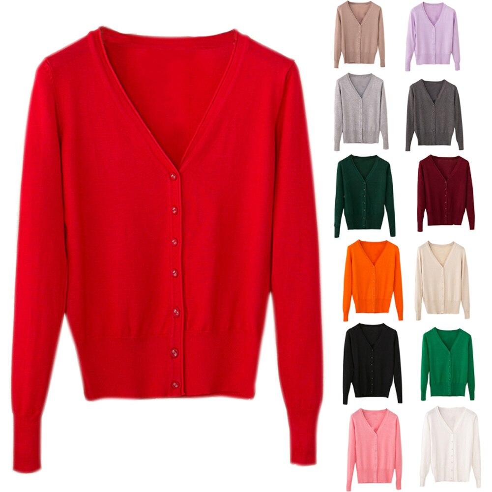 Hot Women Cardigan Casual Sweet Crochet Knitted Tops Long Sleeve Thin Spring Autumn Cardigans CGU 88