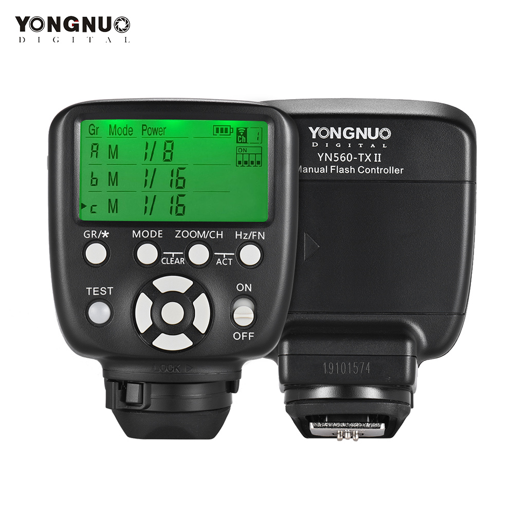 YONGNUO YN560-TX II Manuelle Flash Trigger Fernbedienung LCD Sender Multi-Modi für Canon DSLR Kamera