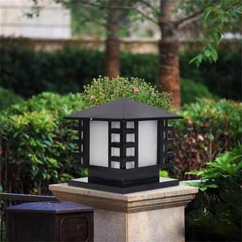 OUFULA Outdoor Wall Light Fixture Solar Post Light Modern Patio LED Waterproof Lighting For Pillar Porch Balcony Courtyard Villa