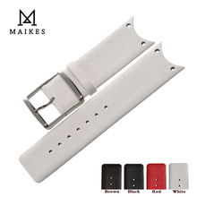 MAIKES עור אמיתי באיכות טובה שעון רצועת להקת אביזרי אופנה שחור Watchbands עבור CK קלווין קליין KOH23100 KOV231