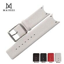 MAIKES dobrej jakości skórzany pasek do zegarka akcesoria moda czarne paski od zegarków dla CK Calvin Klein KOH23100 KOV231