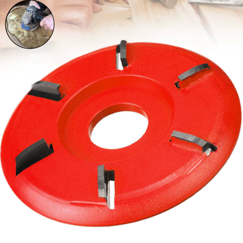 6 Teeth Wood Carving Disc Milling Cutter Polishing Tea Trays Woodworking Opening Aperture Angle Grinder Power Tool Accessories