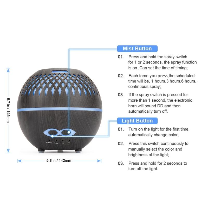 Difusor de aroma umidificador de ar ultra-sônico