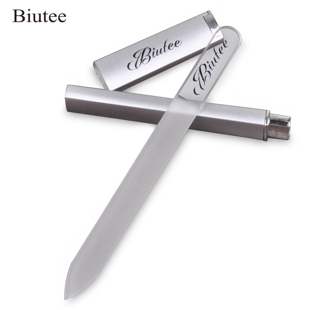 Pro Biutee Nail File Manicure Device Tool Durable Crystal Glass Nail Art Buffer Files High Quality