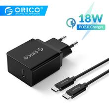 ORICO 18W USB Type C Charger Quick Charge PD Fast Charger for iPhone 11Pro iPhone 11Pro Max xiaomi Huawei PD Charger type c pd test board burn in board decoy test protocol board pd fast charge