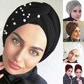 2021; Сезон весна-осень; Женские шапки-бини элегантная женская мусульманская шапка женский тюрбан внутренние хиджабы модным декором из закле...