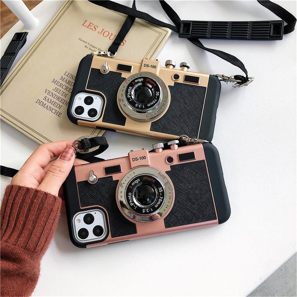 3D Vintage Camera Phone Cases For Iphone 12 11 Pro MAX XS Max XR X 7 8 Plus 6 6S SE 2020 Emily In Paris Phone Cases