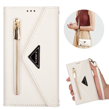 A71 A51 A41 A21 A70 A50 Magnetic Flip Leather Case For Samsung S21Ultra S20 S10 S9 S8 S7 Note 2010+ 9 8 Zipper Wallet Phone Case