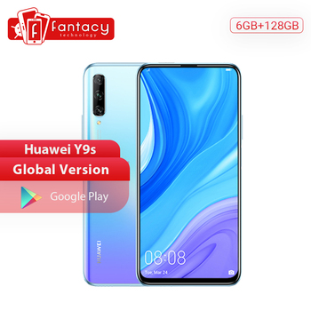 Перейти на Алиэкспресс и купить Глобальная версия Huawei Y9s смартфон 6 ГБ 128 ГБ 48 МП Тройная камера мобильный телефон Авто-всплывающая фронтальная камера 4000 мАч Android
