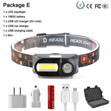 все цены на T705 Super bright LED head light Outdoor camping headlamp XPE + COB USB charging fishing headlights waterproof flashlight 18650