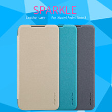 Para Xiaomi Redmi Note 3/7/8/7S funda Nillkin Sparkle Flip Funda de cuero para Redmi Note 8/7/6 Pro funda magnética Smart Sleep(China)