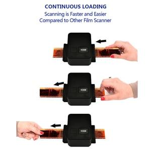 Image 3 - נייד סורק סרט שלילי 35mm 135mm שקופיות סרט ממיר תמונה לבנות עריכת תוכנת USB כבל סורק עבור תמונה