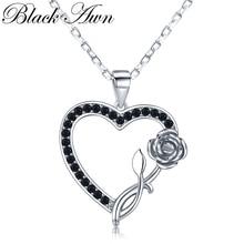 Романтическое поступление, 925 пробы, Серебряное ювелирное изделие, модные ожерелья и кулоны с цветами для помолвки для женщин, K008