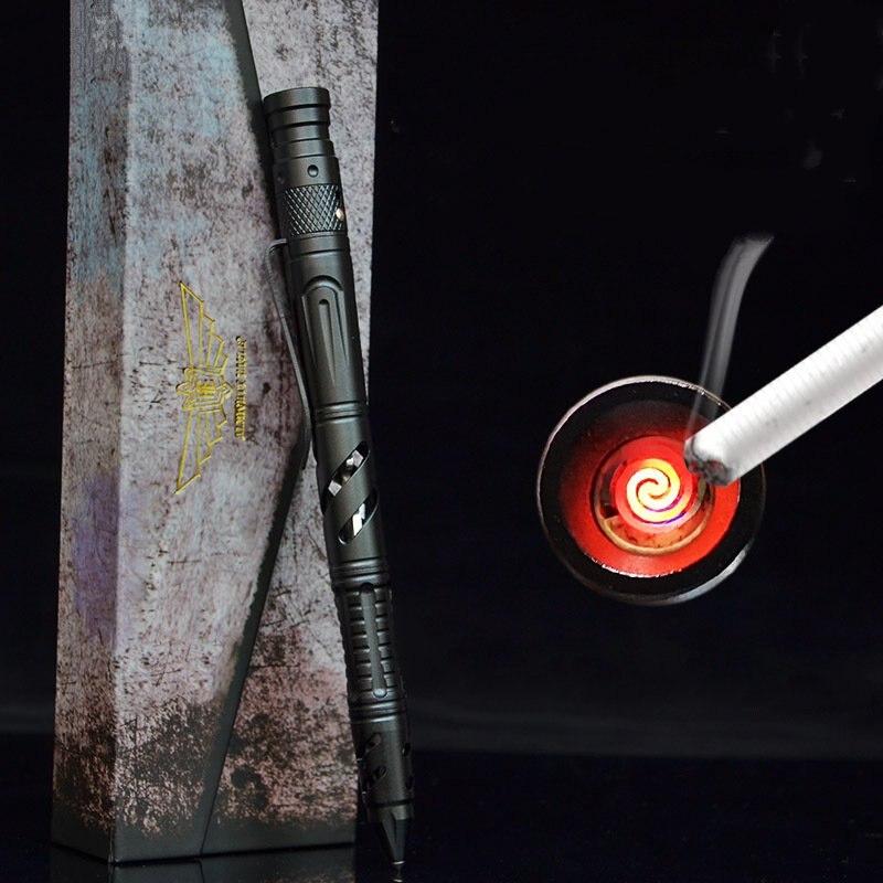 Self Defense Pen Versatile 3.7V Outdoor Portable Tungsten Steel Head Rechargeable Cigarette Lighter Broken Windows Tactical Pen