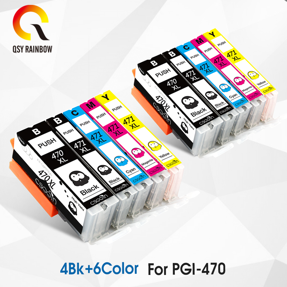 10 color for <font><b>canon</b></font> <font><b>470</b></font> <font><b>471</b></font> PGI-<font><b>470</b></font> CLI-<font><b>471</b></font> ink cartridge for <font><b>canon</b></font> PIXMA MG5740 MG6840 printer Inkjet Cartridge image