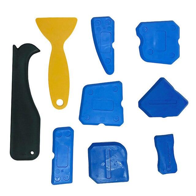 4/9pc Silicone Sealant Spreader Spatula Scraper wall putty knife floor cleaning corner shovel pressure seamer Construction Tools