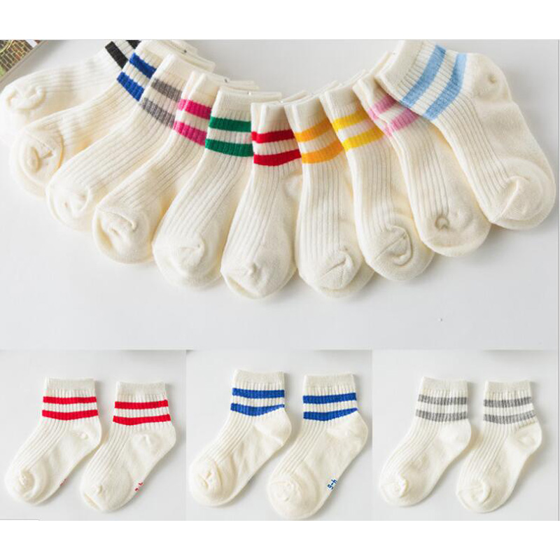 kids Socks  Cotton Boy's Girl's Lovely  striped style All-match Baby Children's Sock 1-10year 10pair=20pc=lot sales direct 1