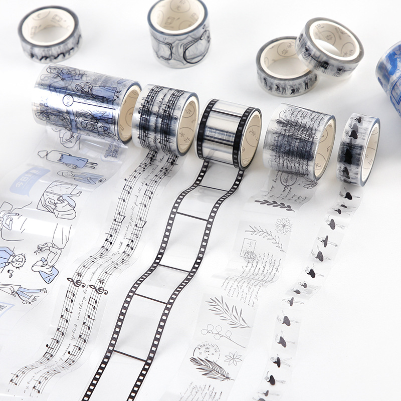 * PET Journaling Decorative Transparent Washi Tape Masking Tape Japanese Stationery Stickers Scrapbooking School Supplies