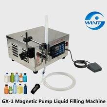 Pompe magnétique semi-automatique à tête unique, Machine de remplissage de liquide, 2-5000ml pour boissons alcoolisées, jus, e-liquide, huile de parfum