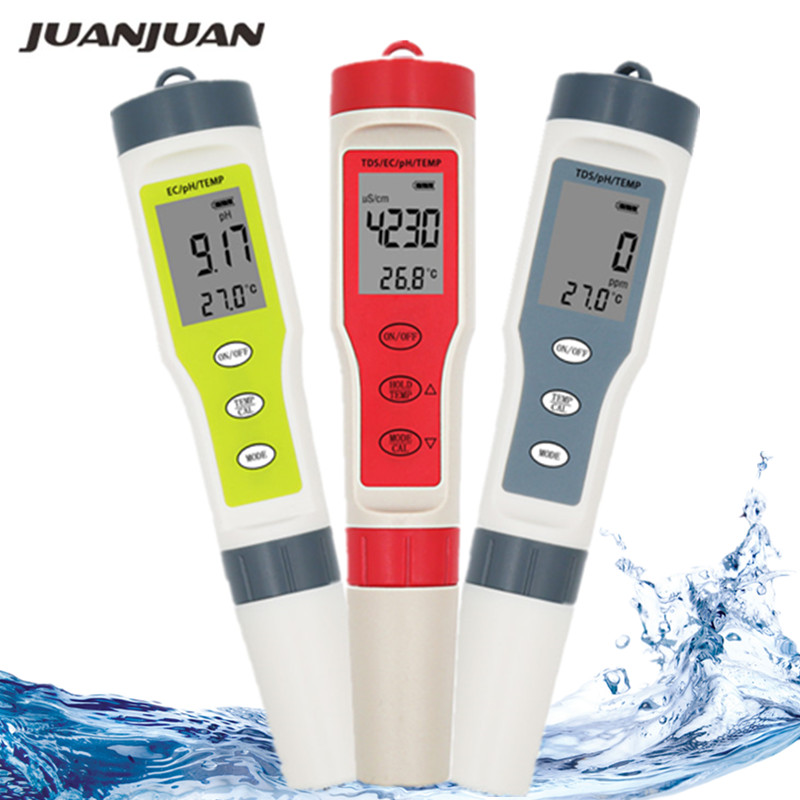 NEW Professional PH/TDS/EC/Temperature Meter Digital Water Quality Monitor Tester for Pools, Drinking Water, Aquariums 40%off